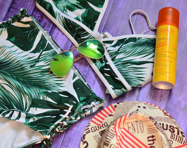модный ретро Купальник с завышенной талией Tropical Leaf Print High Waist Bikini Set