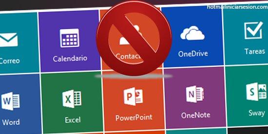 bloqueo de  contactos en Outlook.com iniciar sesion