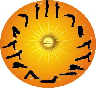 surya namaskar  saudação ao sol