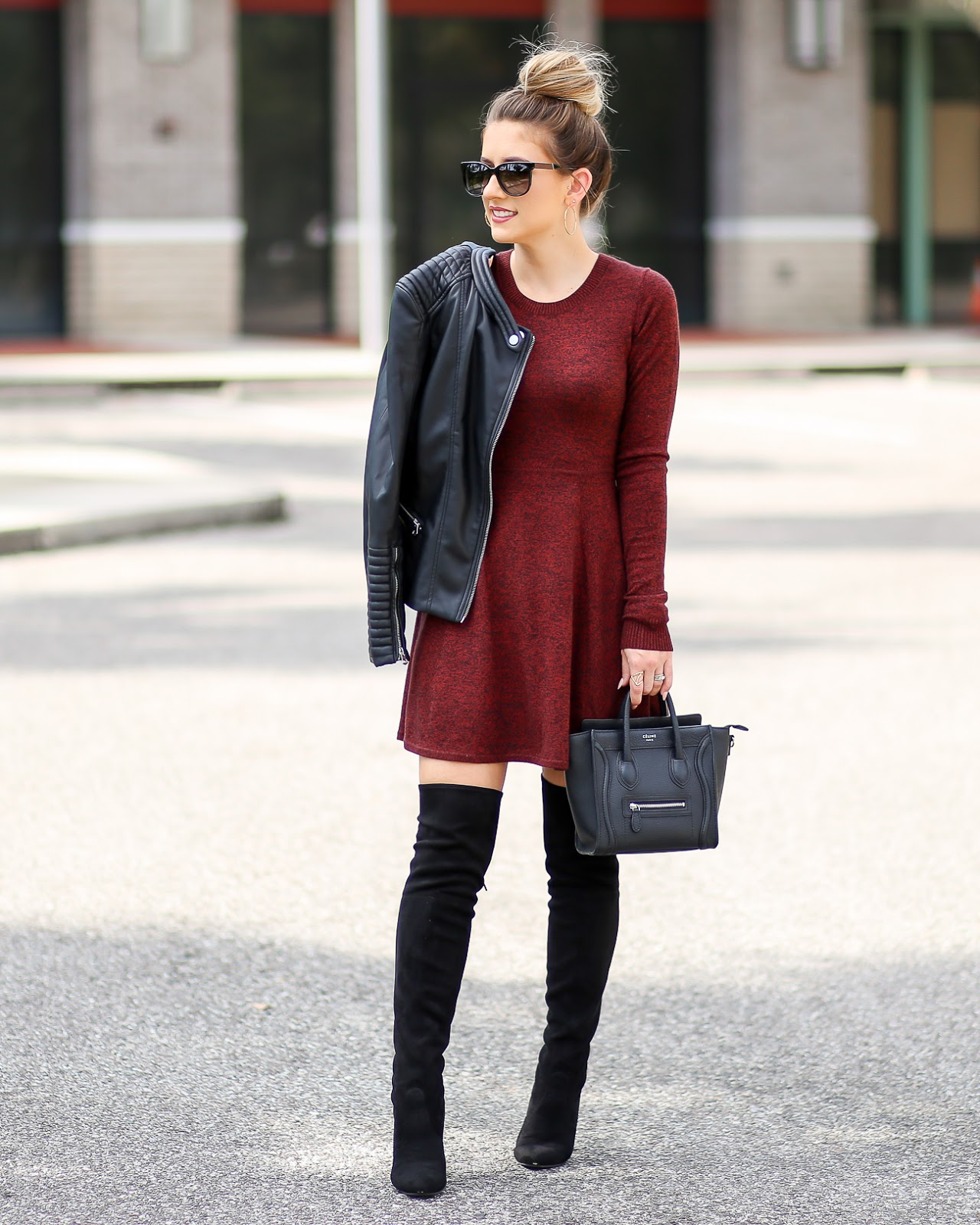 Express sweater dress black