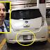 El líder de la bancada del PAN tapa las placas de su auto con un pedazo de papel para no ser multado
