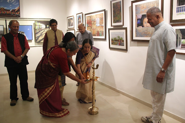 At the inauguration of Milind Sathe's solo photography show at Indiaart Gallery