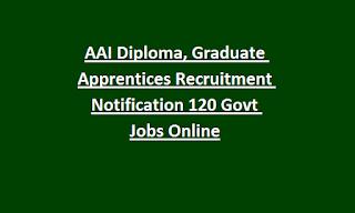 AAI Diploma, Graduate Apprentices Recruitment Notification 120 Govt Jobs Online