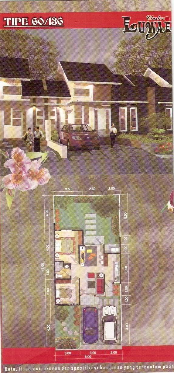 rumahku-1: desain denah rumah minimalis type 60