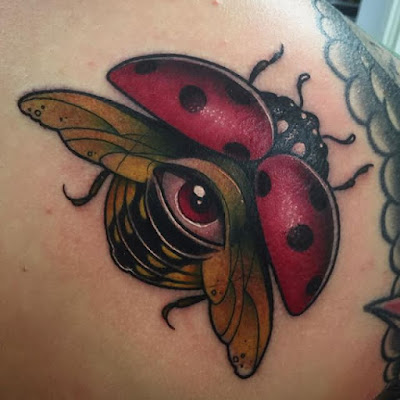 Traditional Ladybug Tattoo