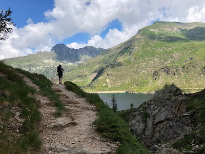 On the edge of Laghi Gemelli (day 1).