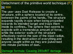 naruto castle defense 6.2 Detachment of the Primitive World Technique detail