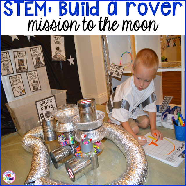 STEM build a space rover! Space Station Dramatic Play - Pocket of Preschool