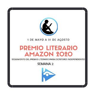 Banner del Premio Literario Amazon 2020 y seguimiento en Cruce de Caminos en su segunda semana