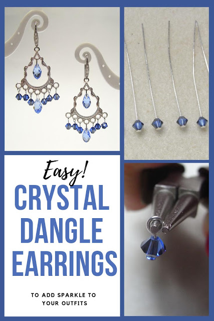 Easy Crystal Dangle Earrings inspiration sheet