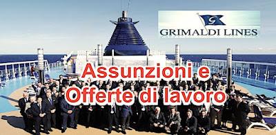 Offerte di lavoro Grimaldi Lines (scrivisullapaginadeituoisogni.blogspot.com)
