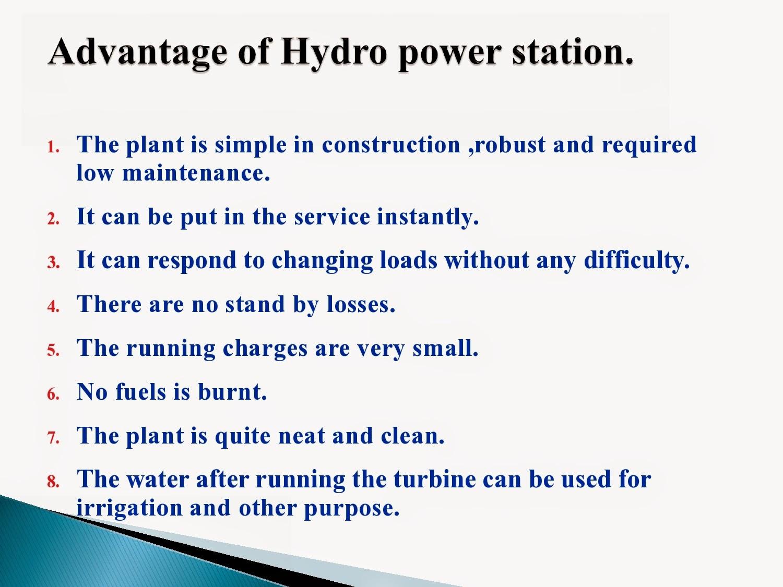 Powerpoint presentation on hydro power plant