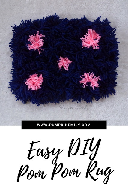 Easy DIY Pom Pom Rug + 2 Easy Ways To Make Pom Poms
