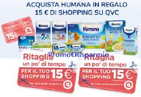 Logo QVC & Humana 2019: ricevi come regalo sicuro una shopping card QVC da 15€
