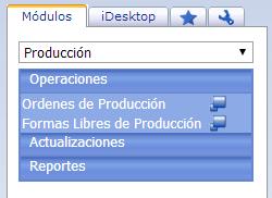 Módulo de Producción - Productos Web de eFactory: ERP/CRM, Nómina, Contabilidad, Punto de Venta, Productos para Móviles y Tabletas