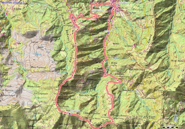 Ruta al San Justo o Cogollu: Mapa de la ruta