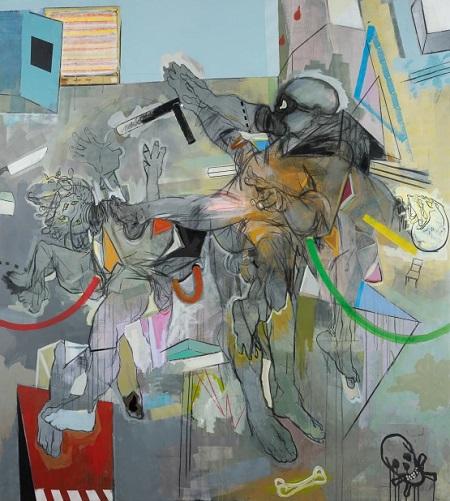 Thameur Mejri, Destroy the source, 2016. | obras de arte abstracto contemporaneo, pinturas abstractas, imagenes | art selecta pictures inspiration