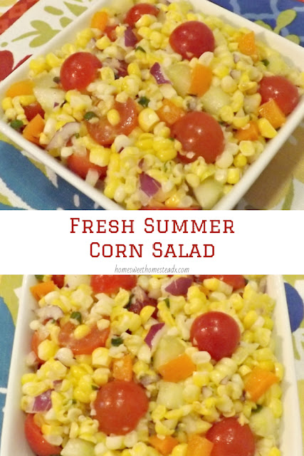 Fresh Summer Corn Salad - Home Sweet Homestead