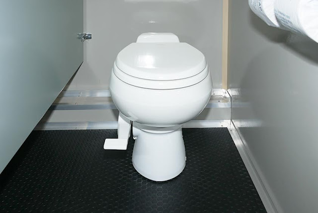 The Watermill Long Term Restroom Trailer with Porcelain Toilets
