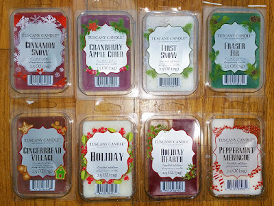 Tuscany Candle Winter Holiday 2017 Scented Wax Melts