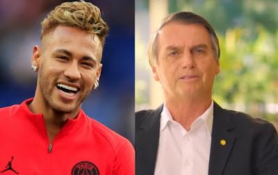 Neymar é criticado por curtir post de apoio ao candidato Jair Bolsonaro