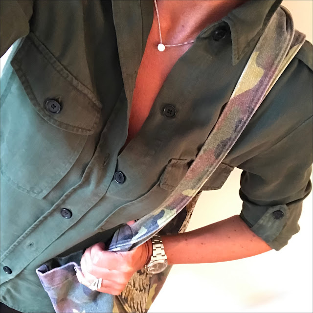 my midlife fashion, zara military shirt, zara camouflage tote shopper, hot squash faux leather leggings, french sole india glitter ballet pump