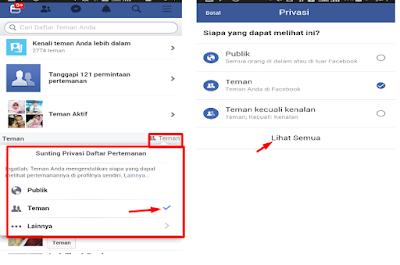 Cara Menyembunyikan Daftar Teman Facebook Dari Orang Asing