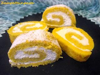 Rotolo dolce di zucca - Dolci con la zucca