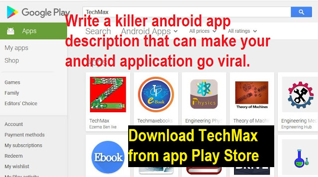 How to write android application description for Google Play store upload