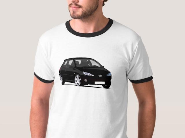 Cornering Peugeot 206 t-shirt