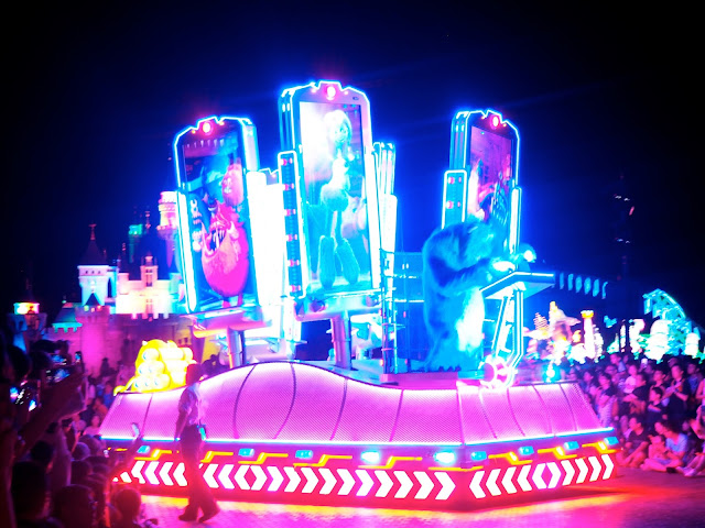 Monsters Inc float in the Paint the Night parade