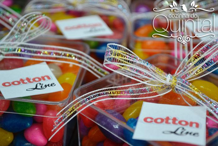 Lembrancinhas da Cotton Line no evento amigas conectadas