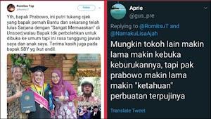 Putrinya Lulus 'Sangat Memuaskan', Tukang Ojek Ungkap Kebaikan Prabowo yang Dilarang untuk Diceritakan
