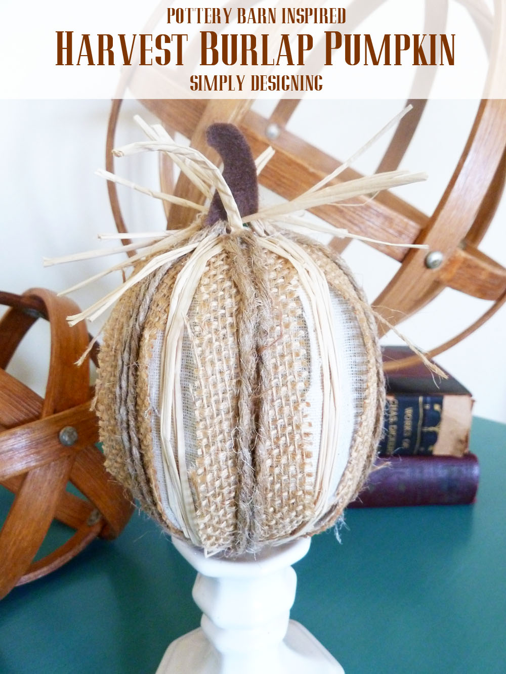 Burlap Harvest Pumpkins Pottery Barn Inspired Simply