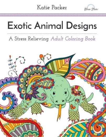 Katie Packer Egzotik Hayvan Desenleri Yetiskin Boyama Kitabi
