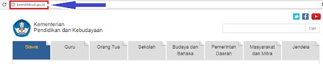 gambar laman Kemdikbud.go.id: Website Resmi Kementerian Pendidikan dan Kebudayaan Indonesia