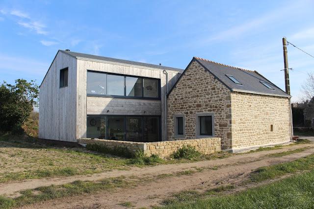 maison bois a brénantec 56340