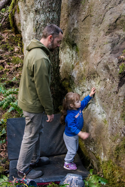 Deep Forest Bouldering: FA's for the kids.