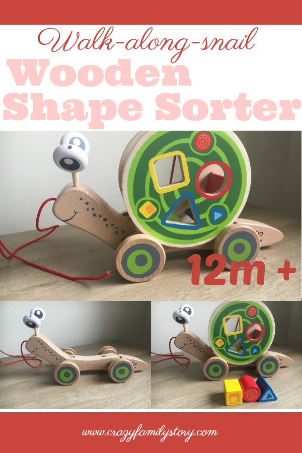 Walk-A-Long-Snail - Wooden baby Pull along toy