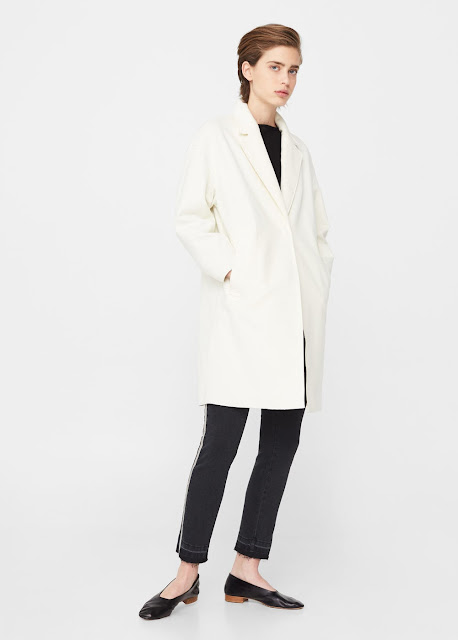 ladies winter white coat