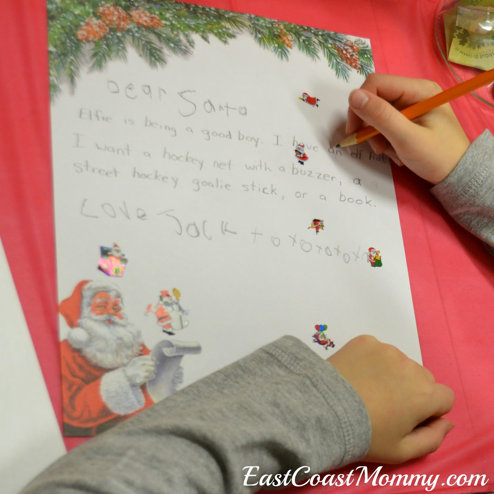 East coast mommy letter writing to santa party 4 we gave each guest supplies to write a letter to santa spiritdancerdesigns Choice Image