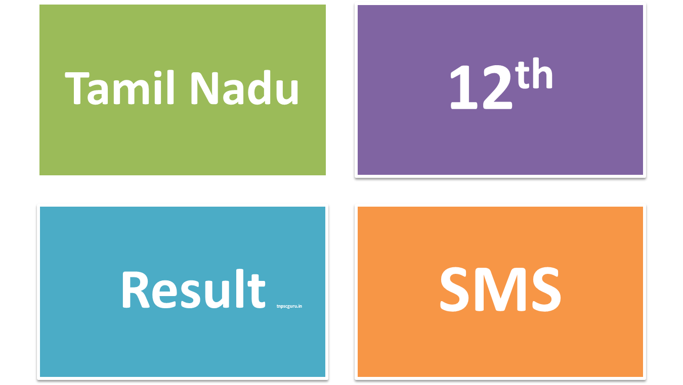 TN 12th Result SMS Numbers