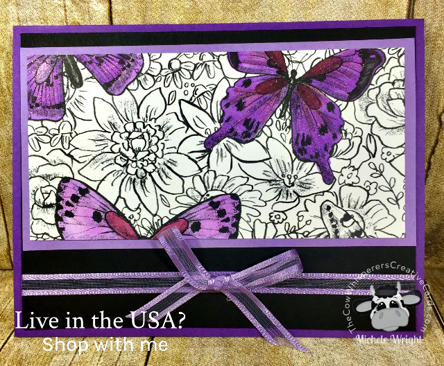 Card, Botanical Butterfly, Stampin' Blends, Organdy Ribbon