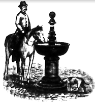 Newspaper illustration of fountain