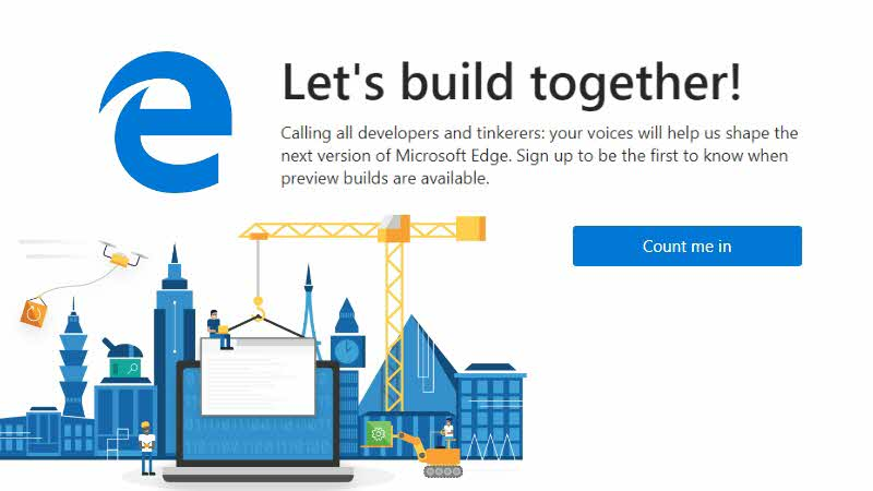 Microsoft Edge Insiders program kicks-off. Be the first to try Chromium Edge