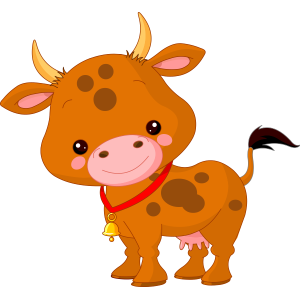 Cute Little Cow Icon