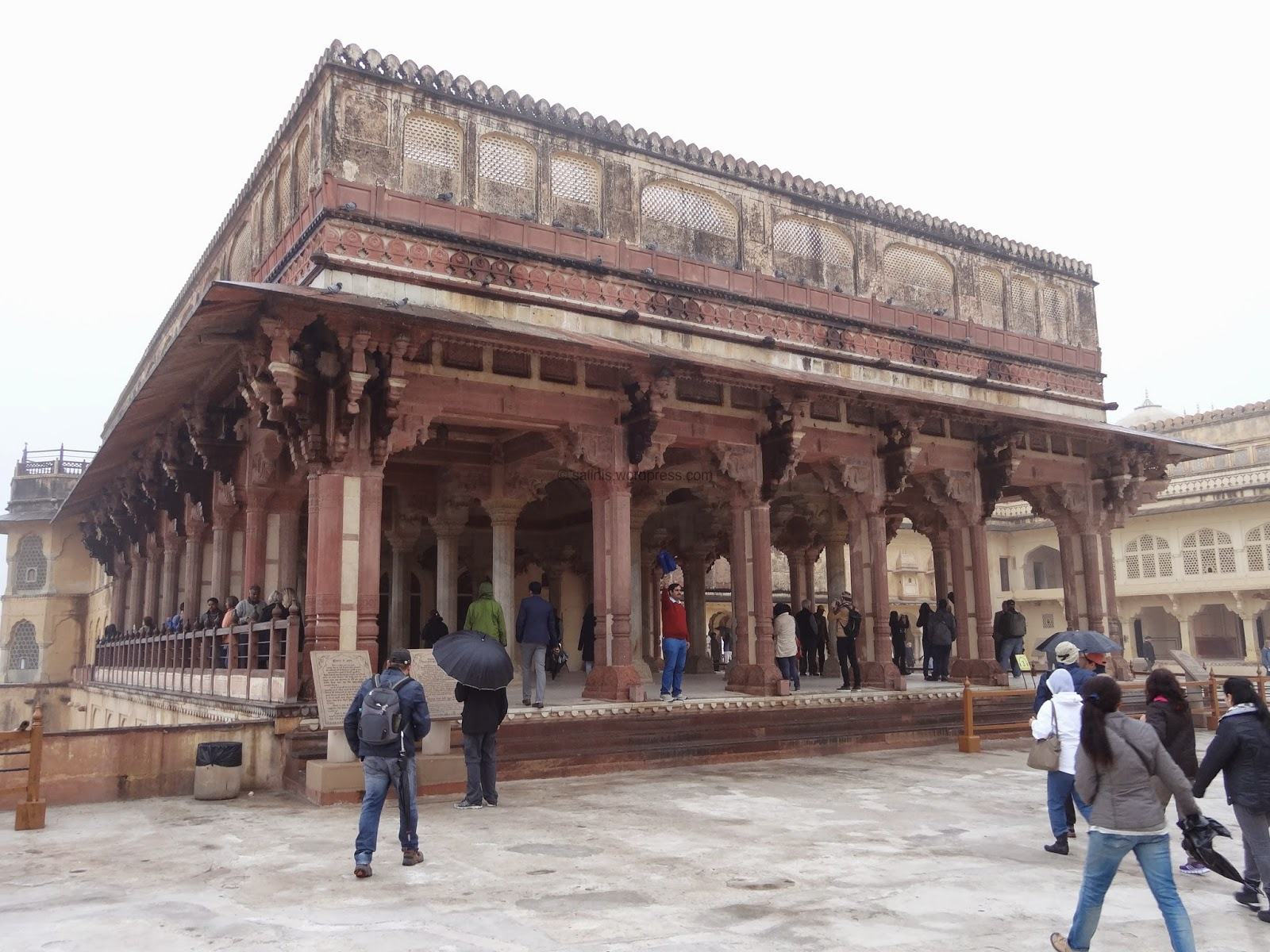 Diwaan-E-Aam - Red Sand Stone Hall Amber fort - Rajasthan India - Pick, Pack, Go