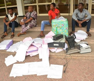 BURSTED: Fake INEC Result Sheets Printing Syndicate Caught In Port Harcourt; See Photos