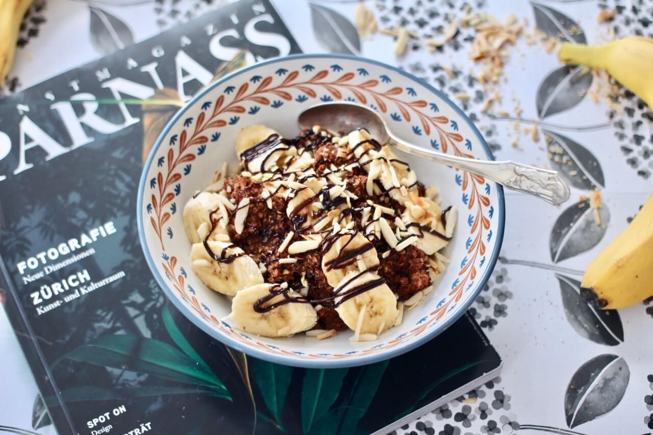 Schoko-Bananen-Porridge