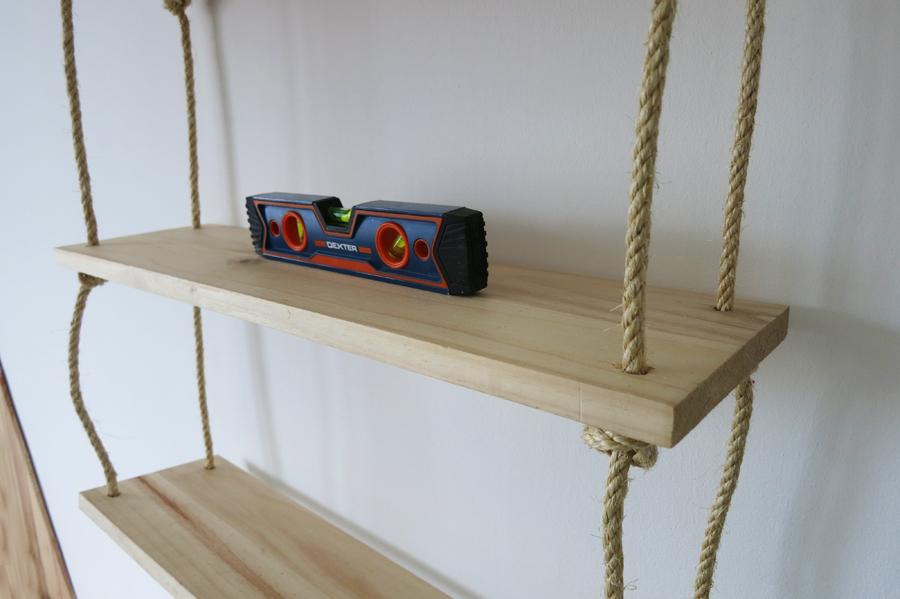 Decorar en familia_Diy baldas de cuerda y madera6